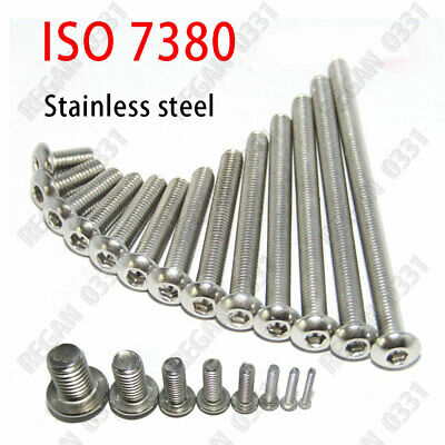 5mm / M5 x 0.8 – Stainless Steel BUTTON HEAD Socket Cap Screws ISO 7380 A2 18-8