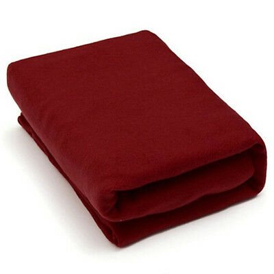 Cosy Thick Plush Snuggle Fleece Blanket With Sleeves Wine Red  WW