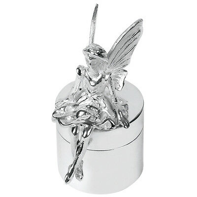 UK Hallmarked Sterling Silver Tooth Fairy Box  + Free Gift Case 8409
