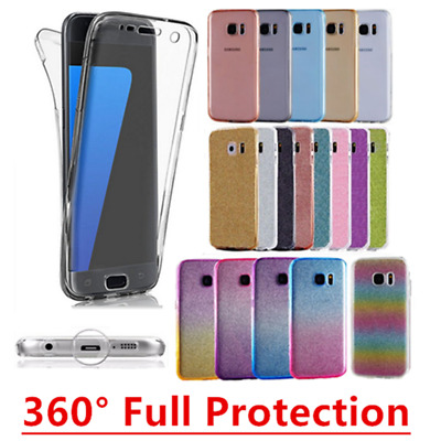 Shockproof 360° Silicone Protective Clear Case Cover For Samsung Galaxy Models