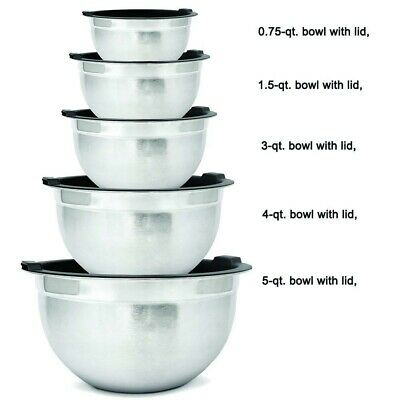 4 Piece  Stainless Steel Hot Cold Food Round Insulated Casserole Hot Pot Set RED