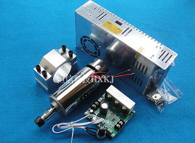 ER11 400w 12000RPM 48V Spindle Motor +  Speed Controller + Mount + power supply