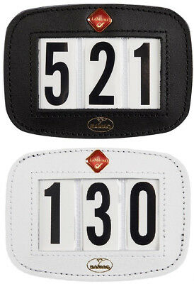 LeMieux Hamag Leather SADDLECLOTH Saddle Pad NUMBER HOLDER Display Black/White
