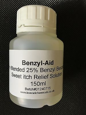 Benzyl Benzoate 25% Solution READY TO USE Treat sweet itch, Ticks Mites 150ml