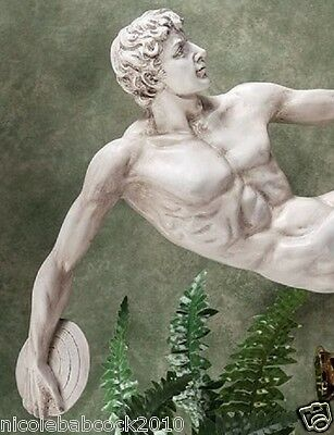 Ancient Roman Antiques Style Greek Disc Thrower Sculpture Finished Antique Stone • CAD $151.14