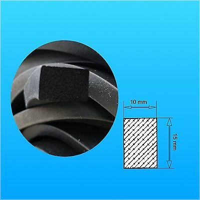 5 m Foam rubber Rectangle 10x15 mm ,foam rubber EPDM 15 SH ,Seal,Square,Profile