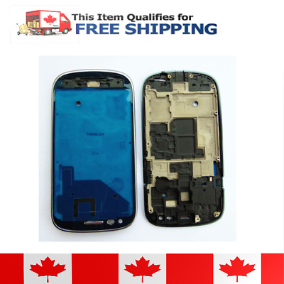 Samsung Galaxy S3 Mini Blue Faceplate Front Bezel Middle Plate Frame Housing