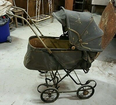Vintage Antique Baby Carriage Stroller Buggy