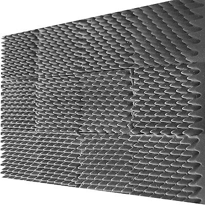 "12 PACK Egg Crate Soundproofing Acoustic Foam Wedge  Tiles Wall Panels 12"" X 12"""