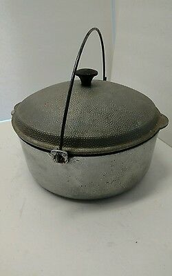 Club Aluminum Hammercraft Dutch Oven 4.5 quart w/ Lid Bail Handle Vintage