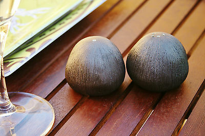 Ceramic Pebble salt and pepper shakers