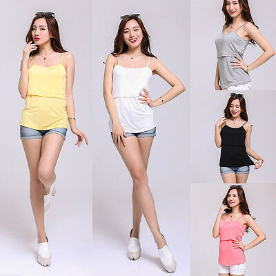 Maternity Nursing Clothes Breastfeeding Clothing Pregnancy Tank Top Nursing Vest
