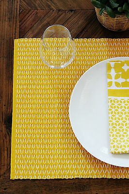 Nelson Yellow Placemats