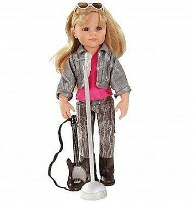 Brand New Gotz Doll Hannah Rockstar 50cm blonde hair Rock Star microphone guitar