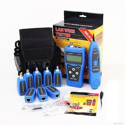 NF388 NF-388 Network Ethernet LAN Phone Tester Wire Tracker With 8 Far-end Jacks