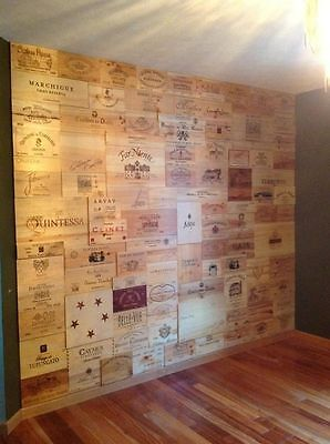 6 X Assorted Wine Wooden Box End Panels Wall Plaque Home Bar Pub Decoration