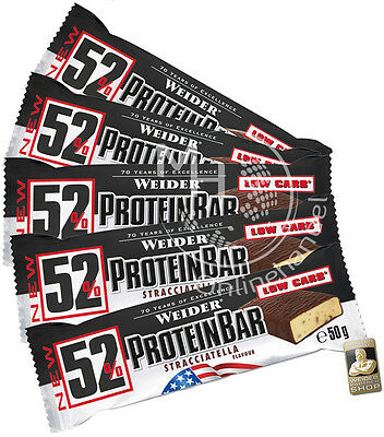 Weider 52% Protein (43,33€/Kg) Bar 9x 50g Box Low Carb Eiweiß Riegel !Mixed!