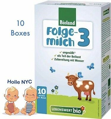 Holle Lebenswert Stage 3 Organic Baby Formula 10 Boxes 475g Free Shipping