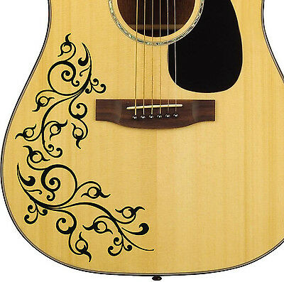 Pro Acoustic Floral Swirl Decal Sticker for Guitar Bodies 10 colour options! DIY