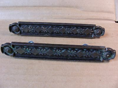 2 Vintage Drawer Pulls / Handles--Brass Finish--Screws Included