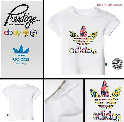 T-shirt infant Adidas Originals Tg: 6-9;9-12;12-18;18-24 mesi; 2-3; 3-4 anni