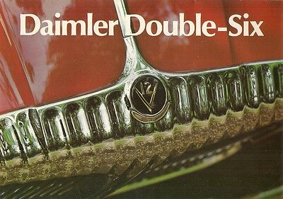 Daimler Double Six Series 1 1972-73 UK Market Foldout Sales Brochure XJ
