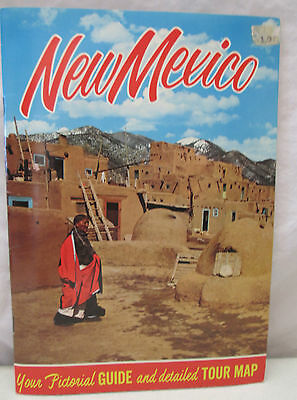 Vintage New Mexico Pictorial Guide and Detailed Tour Map Albuquerque USA
