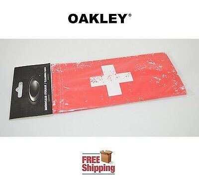 Oakley® Sunglasses Eyeglasses Microclear Cleaning Storage Bag Switzerland Flag