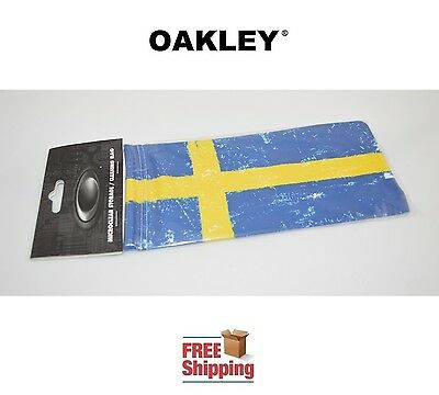 Oakley® Sunglasses Eyeglasses Microclear Cleaning Storage Bag Sweden Flag New