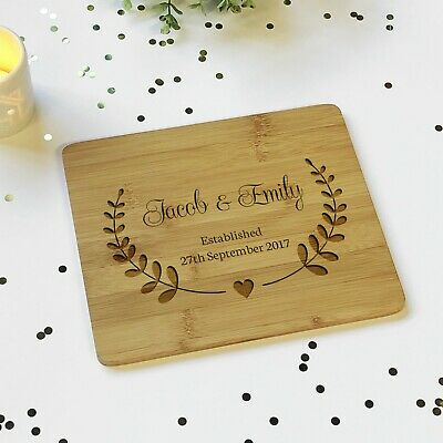 Personalised Couples Wooden Plaque Sign Chopping Board Anniversary Wedding Gift