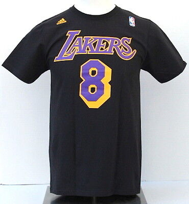 d59b3b98b989 NBA Los Angeles Lakers Men s Kobe Bryant Name and Number 8 T-Shirt - Black