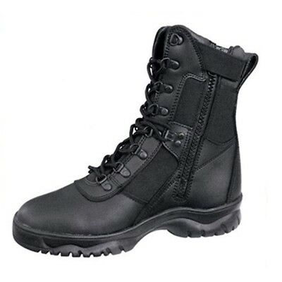 Security Law Enforcment Boots side Zip Tactical Forced Entry Sz UK 44