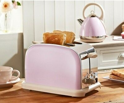 Prolex PASTEL PINK 2 Slice Toaster [Matching Kettle Available]