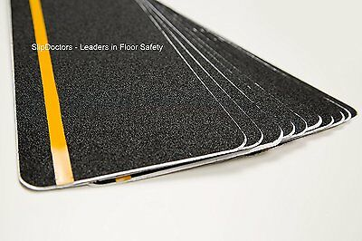 Safety Stair treads tape non slip skid - Reflective Strip 6'' X 24'' - 10 Pack