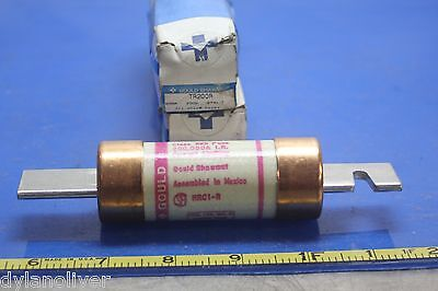 "GOULD SHAWMUT Fuse TR200R Time Delay 200Amps 250V  ""LOT OF 2"""
