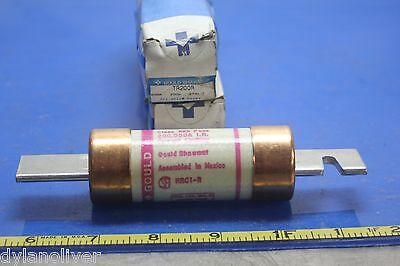 Lot of 2 Gould Shawmut Fuse TR200R Time Delay 200Amps 250V