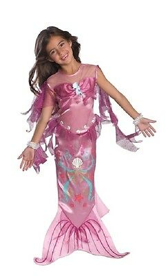 Magical Mermaid  Dress Up Costume Fancy Dress Girls Pink size S 3-4 year