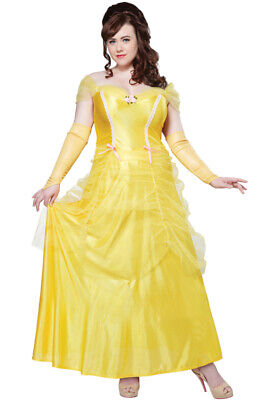 Classic Storybook Princess Belle Beauty Adult Women Plus Size Costume