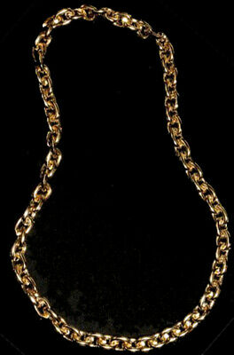 Gangster Rapper Pimp Daddy Faux Gold Chain Necklace Costume Accessory