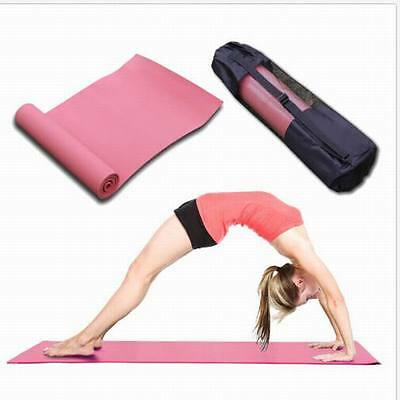 New Pink Pilates Exercise Yoga Mat Pilates Home Gym 6mm Thick Physio Fitness