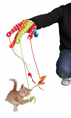 Glove with Toy Mice on Elastic String Cat Kitten Fun Play Toy