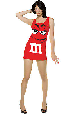 M&M'S Candy Red Tank Dress Up Outfit Adult Costume