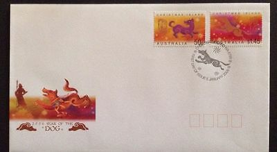 2006 Christmas Island Year of the Dog FDC First Day Cover
