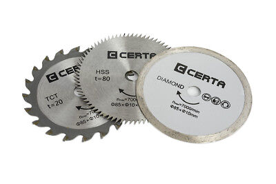 NEW Certa Replacement Blades 3 Pack Circular Saw 85mm