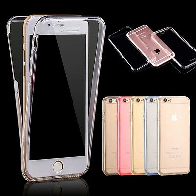 Shockproof 360° Silicone Protective Clear Case Cover For Samsung Galaxy &iPhone