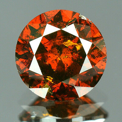1.21 ct Certified Round Brilliant Cut Vivid Red Color Loose Natural Diamond 7733