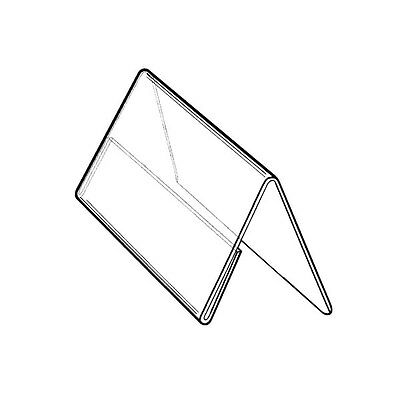 "SET OF 15 COUNTERTOP TENT-SHAPED SIGN HOLDER 50x90 MM (2.0''x3.5"")"