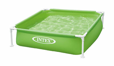 INTEX Mini - Frame Pool Kinderpool Planschbecken 122x122x30 Babypool grün , (N)