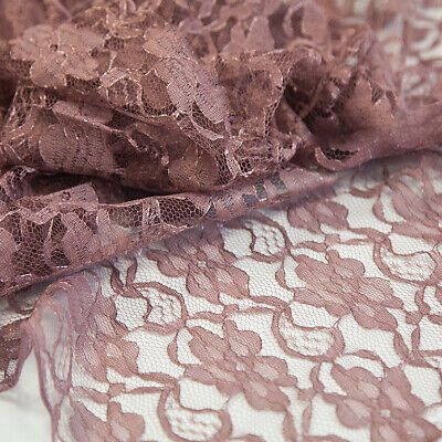 Lace Fabric 1.5M Width Sold Per Meter 6 Colours Weddings Craft Swagging