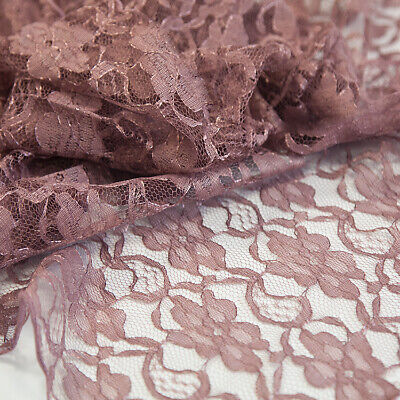 Lace Fabric 1.5M Width Sold Per Meter 8 Colours Weddings Craft Swagging